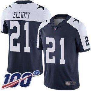 Cowboys Ezekiel Elliott 100th Season Jersey 1